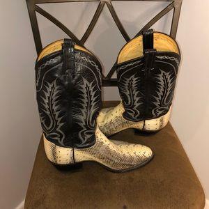 Tony Lama Water Snake Western Boots